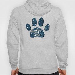 Adopt don't shop galaxy paw - blue Hoody