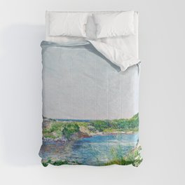 Frederick Childe Hassam - The Little Pond, Appledore - Digital Remastered Edition Comforters