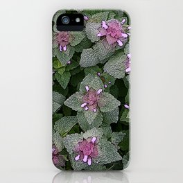 WILD SALVIA MAUVE AND GRAY GREEN iPhone Case