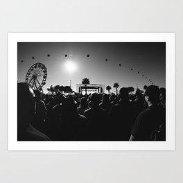 Music Festival. Art Print