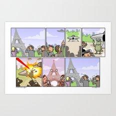Asshole Eiffel Art Print