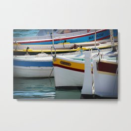 Boats in Cassis Metal Print