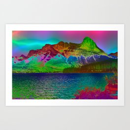 Rainbow Mountains Art Print