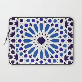 V19 Epic Light Blue Traditional Moroccan Pattern Design . Laptop Sleeve