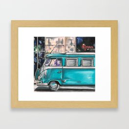 Hippie Van Framed Art Print