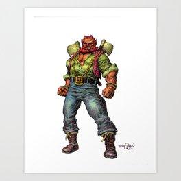 Mood the Blood Ranger Art Print