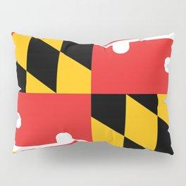Maryland State Flag Art Print Pillow Sham