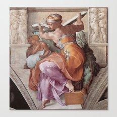 The Libyan Sybil Sistine Chapel Ceiling by Michelangelo Canvas Print
