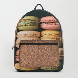 French bakery macarons sweet pastries Backpack