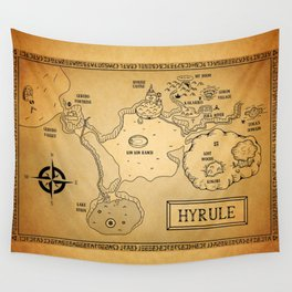 Hyrule Map  OOT Wall Tapestry