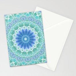 Blue and Turquoise Mandala Stationery Cards
