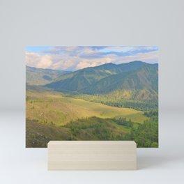 mountain pasture Mini Art Print