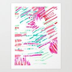 Pastel Lines Art Print