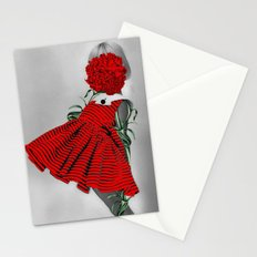 RED CARNATION Stationery Cards
