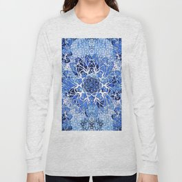 Sapphire Crochet Mandala Long Sleeve T-shirt