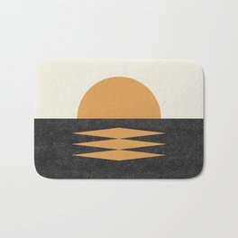 Sunset Geometric Midcentury style Bath Mat
