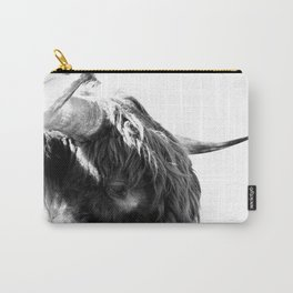 Black and White Horns Carry-All Pouch