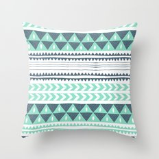 Winter Stripe Throw Pillow