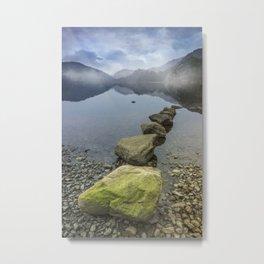 Llyn Gwynant Stepping Stones Metal Print
