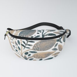 Watercolor branches and leaves - neutral Fanny Pack