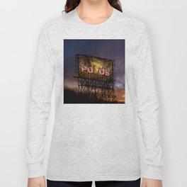 Trump Billboard Outside Blue Wave City Long Sleeve T-shirt