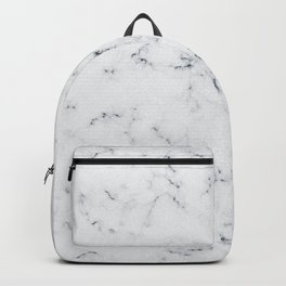 Baesic White Marble Texture Backpack