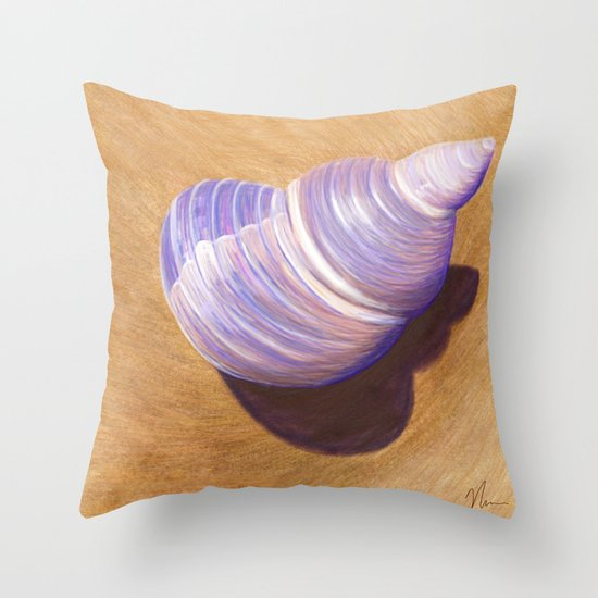 Seashell - Painting Throw Pillow