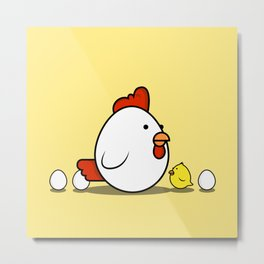Little Chick Metal Print