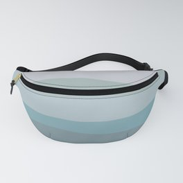 Calming Ocean Waves in Soft Dusty Pastels Fanny Pack