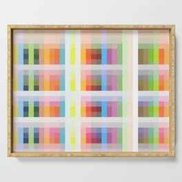 colorful grid Serving Tray