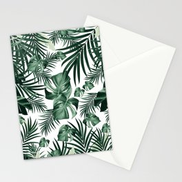 Tropical Jungle Leaves Pattern #4 (2020 Edition) #tropical #decor #art #society6 Stationery Cards