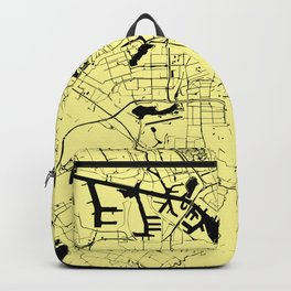 Amsterdam Yellow on Black Street Map Backpack