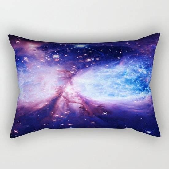 Galaxy : A Star is Born Blue Purple Rectangular Pillow