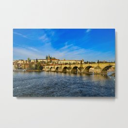 Charles Bridge in Prague Metal Print