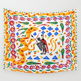 traditional Sicilian design folklore Wall Tapestry