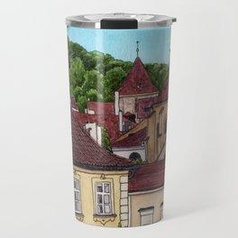 Buildings in Prague Travel Mug