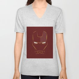 iron man face Unisex V-Neck
