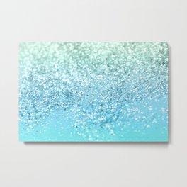 Seafoam Aqua Ocean MERMAID Girls Glitter #1 #shiny #decor #art #society6 Metal Print