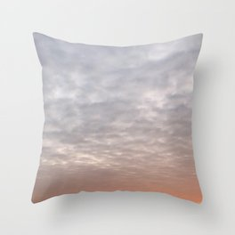 Single Clouds in the Sky Throw Pillow