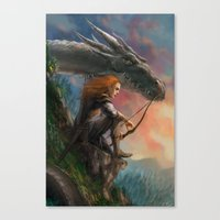guardians Canvas Prints featuring Guardians by Rita Fei