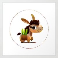 donkey Art Prints featuring Donkey by Jose Campa