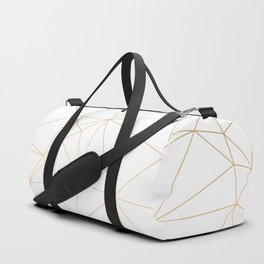 Geometric Gold Minimalist Design Duffle Bag