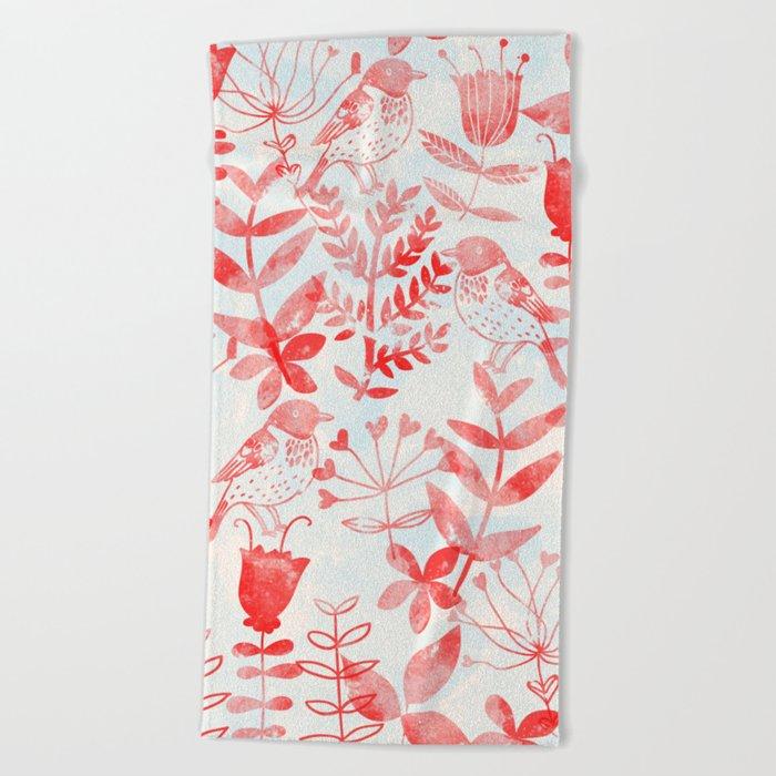 Botanical Garden III Beach Towel