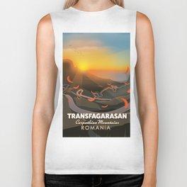 Transfagarasan,Carpathian Mountains, Romania Road poster Biker Tank