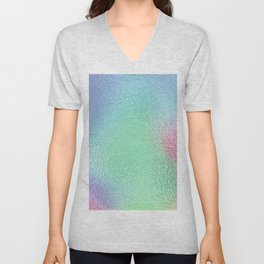 Simply Metallic in Holographic Rainbow Unisex V-Neck