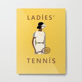 Ladies Tennis retro style Metal Print
