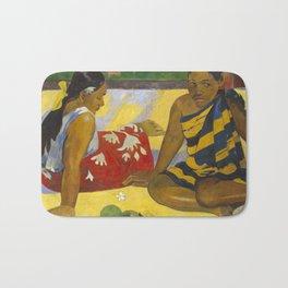 Parau Api / What's news? by Paul Gauguin Bath Mat
