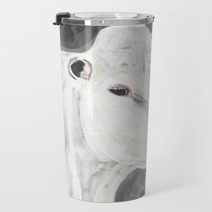 White Cow Travel Mug