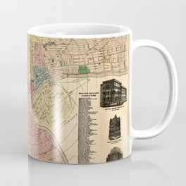 Map Of Newark 1876 Coffee Mug