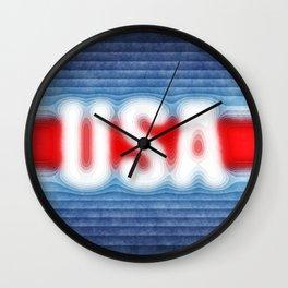 USA Typography Wall Clock